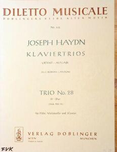 J. Haydn, Klaviertrios, für Flöte, Violoncello, und Klavier, Trio Nr. 28