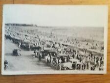 CPA PORNICHET LES PINS PLAGE AUTOMOBILES TIMBRE SEMEUSE 20 ET 10C 1937