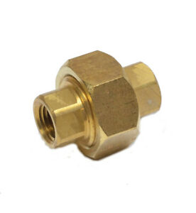 1/4 Npt Female 3 Piece Union Coupling Brass Pipe Fitting Air Water Oil Gas Fuel