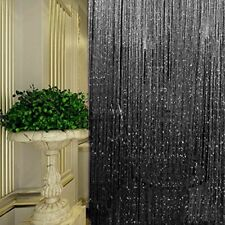 USA Glitter String Door Curtain Beads Room Dividers Beaded Fringe Window Panel