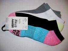 Happy Style Socks Sport Low Cut Socks 3 Pair Shoe Size 5.5-9.5 NEW #24
