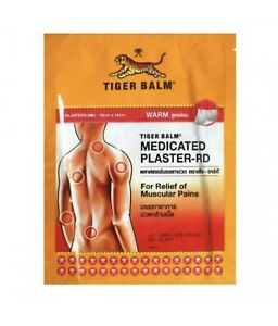 TIGER BALM WARM FORMULA MEDICATED PLASTER RELIEF OF MUSCULAR PAINS FREE SHIPPING