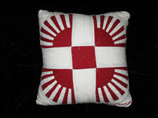 1992 JUDI BOISSON American Country HANDMADE QUILTED Throw PILLOW 100% Cotton NEW