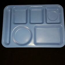 Food Tray Blue Six Compartment Carlisle Buffet Kids Camping Crafts