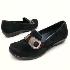 @ DANSKO Women's Slip-On Casual Clogs Shoes Sz 6 Eu37 Loafers Pumps Suede Black