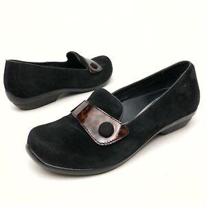 @@ DANSKO Women's Slip-On Casual Clogs Shoes Sz 6 Eu37 Loafers Pumps Suede Black