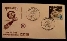 MONACO PREMIER JOUR FDC YVERT 1275   COUPE EUROPEENNE FOOTBALL      2F     1981