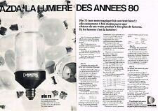 PUBLICITE  1980   MAZDA  la lumière des années 80 (2 pages)