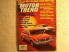Motor Trend 1979 May Chevrolet Buick Oldsmobile Pontiac Ford Saab Chrysler Honda