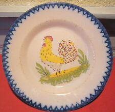 ceramica piatto Charolles San Clemente motivo decorativo gallo