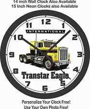 INTERNATIONAL TRANSTAR EAGLE SEMI-TRUCK WALL CLOCK-Choose 1 of 2