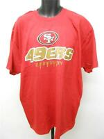 NEW San Francisco 49ERS Adult Mens Sizes XL-2XL Red NFL Shirt