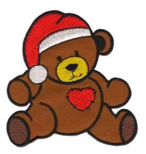An58 Teddy Bear Sew-On Heart Christmas Iron-On Application Children