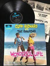 Cliff Richard with The Shadows - Wonderful Life (On The Beach etc) Vinyl LP EX