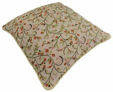 """EXOCTIC BIRD FLORAL TAPESTRY CHENILLE GOLD PILLOW CUSHION COVER 18"""" - 45CM"""