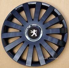 "Black Metallic  14"" wheel trims, Hub Caps, Covers to Peugeot 107 (Quantity 4)"