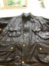VINTAGE BARBOUR A180 BEACON MOTORCYCLE JACKET TRIALS  WAX COTTON C 48/122cm