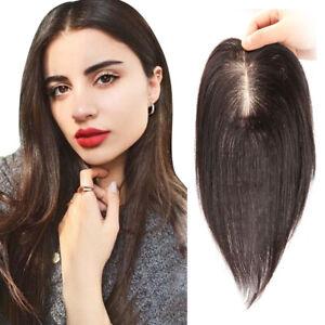 Toupee Hair For Women Hair Topper Human Hair Clip Imitate silk base 9*14cm