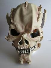 American Mask & Novelty Co DEVIL SKELETON MASK Full Head SCARY Horns HORROR