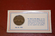 July 26th, 1994 Peace Garden Dedication Coin Medal Canada US 40mm Sealed