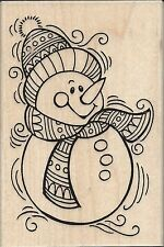 """""""PenPattern Snowman"""" Rubber Stamp by Stampendous"""