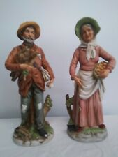 Vgt Home Interior Homco Old Man & Woman Farmers #8884 Figurines Set of 2