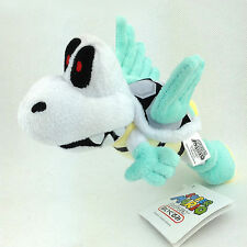 "Parabones Super Mario Bros Plush Winged Dry Bones Koopa Toy Stuffed Animal 6"""