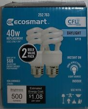 EcoSmart 40W Equivalent Daylight GP19 Spiral Light Bulb (2-Pack) E5226
