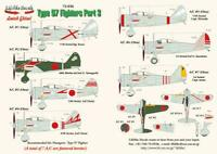 Lifelike 1/72 decal Nakajima Ki-27 Nate Pt 3 Hasegawa Type 97 Fighter 72-036