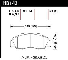 Hawk Performance HB143Z.680 Front Ceramic Brake Pads