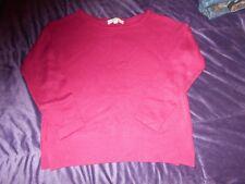 Ann Taylor Loft Women's Knitted Maroon Fuschia Sweater Size Medium EUC