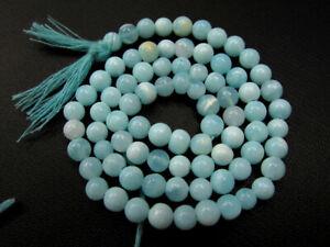Blue Peru Opal Shaded Rondelle Shape Beads Blue Opal Smooth Loose Gemstone Beads 6-9mm Jewelry 16 Strand