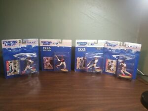 Lot of 4 Vintage Starting Lineup Cleveland Indians Figures with cards new in box