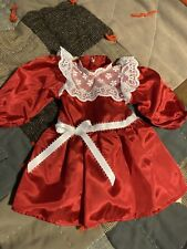 handmade doll clothes to fit American girl dolls Samantha Red Christmas Dress