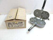 VINTAGE REGINA GIUNTA BROTHERS AUTOMATIC PIZZELLE MAKER BY WITH BOX
