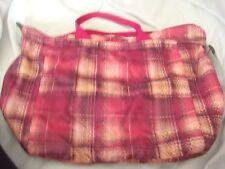 le sports pink plaid handbag straps & additional shoulder strap includes purse