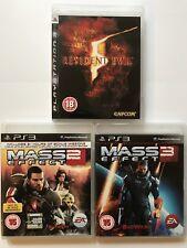 PS3 Game Bundle - Resident Evil 5 + Mass Effect 2 + Mass Effect 3 - (321)