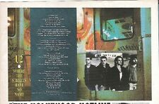 U2 Where The Streets Have No Name lyrics magazine PHOTO / mini Poster 8x6 inches