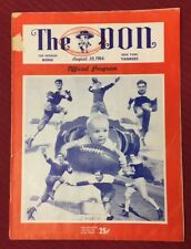 VINTAGE 1946 AAFC NEW YORK YANKEES @ LOS ANGELES DONS FOOTBALL PROGRAM -1ST YEAR