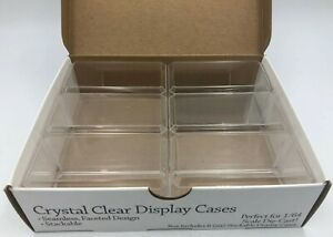 (6)x 1/64 Scale Match Box Diecast Car Display Acrylic Case Stackable Holders