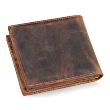 Mens Genuine Leather Wallet Bifold Distressed Purse Handmade with RFID Blocking