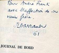 ENVOI AUTOGRAPHE de Jean-Louis BARRAULT sur JOURNAL DE BORD ISRAEL JAPON GRECE