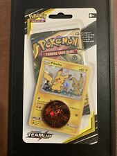 Pokemon Team Up Pikachu Checklane Blister Booster Pack Factory Sealed With Bonus