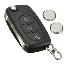 Audi 3 Button Remote Key Fob Case Shell Service Repair Kit Fits A3 A4 A6 A8 TT