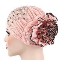 MUSLIM WOMEN LADIES HIJAB CAP ISLAMIC UNDERSCARF FLOWER HAT HEAD WRAP SCARF ARAB