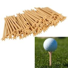 100 Pcs Pack Professional Frictionless Golf Tee Wheat Golf Tees Plastic 70mm HF