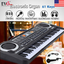 61 Key Digital Music Electronic Keyboard Electric Piano Set Organ w/Microph