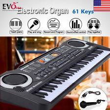 61 Keys Digital Music Electronic Keyboard Electric Piano Toy Key Board Gift Blac