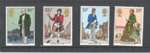 MINT 1979 GB ROWLAND HILL POSTAGE STAMP STAMP SET OF 4 MUH