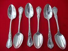 """1890 NAVARRE Pattern 6 Teaspoons By 1847 Rogers Silverplate 5 7/8"""" Long Flatware"""